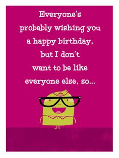 you're lobely fashionably late birthday card