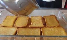 Greek Cake, Fridge Cake, Sweets Cake, Dessert Recipes, Desserts, Greek Recipes, Cornbread, French Toast, Cooking