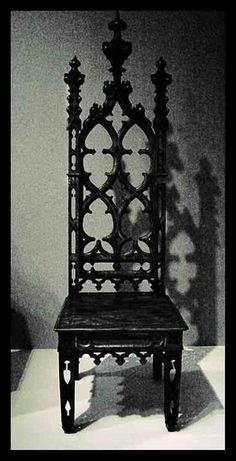 black gothic high backed chair.Lovely black gothic high backed chair. Gothic Chair, Gothic Furniture, Cool Furniture, Inexpensive Furniture, Classic Furniture, Gothic Interior, Gothic Home Decor, Gothic House, Victorian Gothic