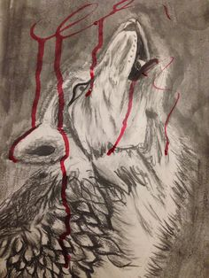 Wolf in pain