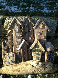 Drivtømmer / driftwood / drivved Med glas dekoration