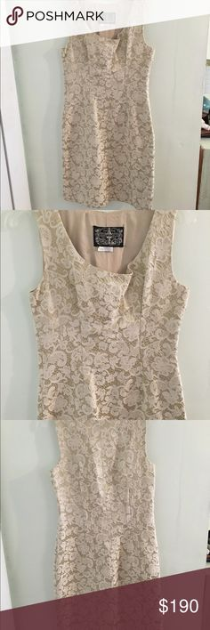 RARE Anthropologie James Coviello Brocade Dress Stunning dress! Cannot find anywhere! Lovely brocade pattern sheath dress. Worn once and dry cleaned. Anthropologie Dresses