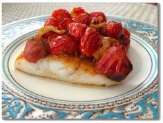 Slow Roasted Alaska Halibut with Fennel & Tomatoes...