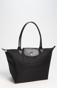 "******Longchamp 'Planetes' Large Tote available at Longchamp 'Planetes' Large Tote available at #Nordstrom. Raves about it being better than the pliage. More expensive looking. Folds into size of birthday card. Zip #Nordstrom. $189 12x11x7. **** 9""drop"