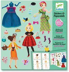 Djeco Stickers And Paper Dolls - Massive Fashion