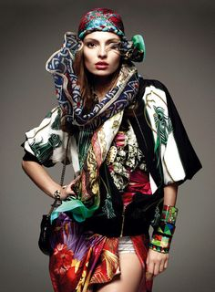 Carola Remer lensed by Greg Kadel for Vogue Germany, january 2012