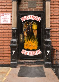 Hells Angels, East Village (this was my old block! Used to live across the street from hell's angels head quarters) Biker Clubs, Motorcycle Clubs, Motorcycle Workshop, Bike Gang, Brooklyn, Hells Angels, I Love Ny, Ride Or Die, Motorbikes