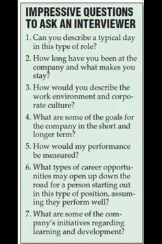 Interview tips.. Great questions to ask when you are interviewing