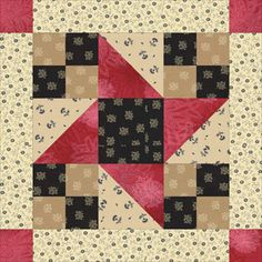 Star Quilt Patterns and Quilt Block Patterns: Framed Friendship Stars Quilt & Quilt Block Pattern