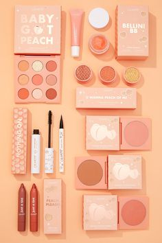 Big Ole Peach Collection Set including the Baby Got Peach Palette, Super Shock Shadows, Lippie Tints, and so much Makeup Kit, Makeup Tools, Skin Makeup, Makeup Inspo, Makeup Inspiration, Beauty Makeup, Kawaii Makeup, Cute Makeup, Pretty Makeup