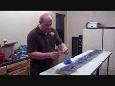 Part Two Cracked Mud Wet FeltingTechnique - YouTube