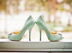 mint wedding heels.....something like this but a smaller heel would be cool!