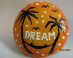 Reserved for George handpainted rock by PlaceForYou on Etsy