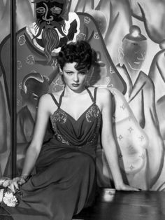 """Gene Tierney in """"The Shanghai Gesture"""",  (dress designed by Oleg Cassini, of course), 1941. Someday, I will actually watch this film! It's on the list...that long list."""