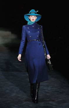 Gucci, Fall 2011. I NEED this cobalt coat. Without the $10,000 price tag. Or however many thousands it will cost...