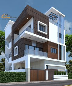 Modern House Elevation Designs In Bangalore. 20 Modern House Elevation Designs In Bangalore. Narrow House Designs, Modern Exterior House Designs, Best Modern House Design, Modern House Facades, Modern Bungalow Exterior, Minimalist House Design, Exterior Design, 3 Storey House Design, Duplex House Design