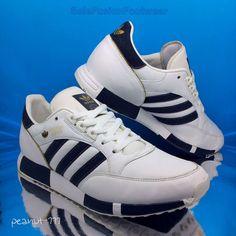 adidas Mens Boston Super Trainers White sz 9 Leather/Denim Sneaker US 9.5 43 1/3  | eBay
