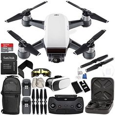 Free Shipping. Buy DJI Spark Portable Mini Drone Quadcopter (Alpine White) + DJI Spark Remote Controller EVERYTHING YOU NEED Essential Bundle at Walmart.com
