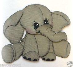 Bebé elefante sentado bastante animal prefabricados juntar las piezas de papel mi lágrima Osos Kira