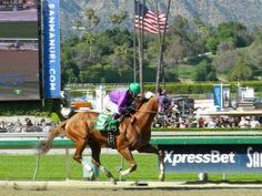 California Chrome wins the Santa Anita Derby