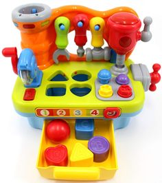 VTech Smart Shots Sports Center - CifToys Musical Learning Workbench Toy For Kids Construction Work Bench Building Tools With Sound Effects & Lights Engineering Pretend Play * Find out more by checking out the photo web link. (This is an affiliate link). Toddler Toys, Baby Toys, Kids Toys, Baby Play, Tool Workbench, Engineering Toys, Construction For Kids, Toys For 1 Year Old, Up Game