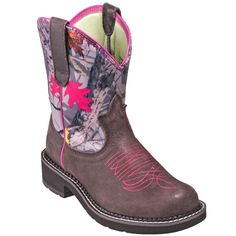 Ariat Boots: Women's 10016229 Brown/Pink Leather Fatbaby Heritage Vivid Boots…
