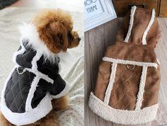 2015 замши Pet одежда для собак мода стиль одежда для собак зимняя одежда пальто куртки для домашних животных собака зима