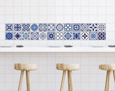Etsy :: Your place to buy and sell all things handmade Tile Decals, Wall Tiles, Vinyl Decals, Wall Waterproofing, Inexpensive Flooring, Off The Wall, Adhesive Vinyl, Kitchen And Bath, Tile Floor
