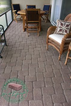 """Are you tired of looking at a boring concrete patio, pool deck, walkway or steps? Bring new life with thin pavers! Our thin """"remodeling"""" pavers are specially designed for overlaying existing concrete patios, walks & pool decks. Concrete Patios, Concrete Pathway, Wood Walkway, Concrete Porch, Concrete Steps, Brick Pavers, Concrete Slab, Patio Steps, Brick Steps"""