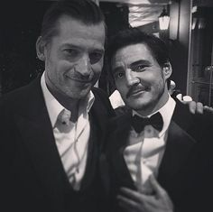 How about a little Game of Thrones eye candy. Jaime Lannister (Nikolaj Coster-Waldau) and Oberyn Tyrell (Pedro Pascal) definitely know how to dress up! So handsome.