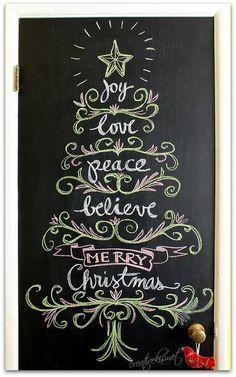 Christmas Chalkboard Art 18