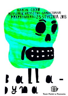 """Balladyna"" theatre posters by kuba kolodziejak, via Behance"