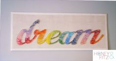 Old School String Art with great colored thread.