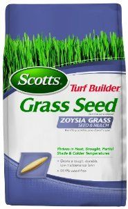 Scotts 18362 Turf Builder Zoysia Grass Seed and Mulch, 5-Pound by Scotts. $31.21. Thrives in sandy and acidic soil.. Ideal for deep South coastal regions.. Thrives in heat, drought, partial shade & colder temperatures. 99.9% weed free. Grows a tough, durable, low maintenance lawn. Endures in heat, drought, partial shade and colder temperatures. Grows a tough, durable, low maintenance lawn. 99.9% weed free.