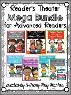 This Reader's Theater Bundle is a 6 pack of Partner Plays for Advanced Readers. Each pack includes 10 plays for a total of 60 plays! They are perfect for fluency, buddy reading, literacy centers, reading, etc.You can find each pack separately by clicking the links below.Reader's Theater - Partner ...