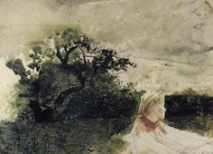 Andrew Wyeth Watercolor Paintings | Andrew Wyeth | In the Orchard (1972) | Artsy