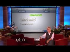 More Clumsy Thumbsy! I am crying because I am laughing so hard. Not at the auto corrects but by the way Ellen says Puyallup! Poo yall up! LOL I love her.