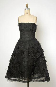 Balenciaga Evening ensemble Date: 1954–55 Culture: French