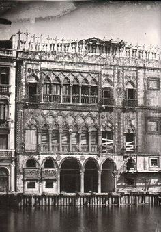 Ruskin: The Ca d'Oro in 1845