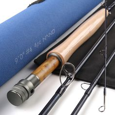 """Maximumcatch NANO A-Helix Core Carbon Fly Rod 9'0""""FT  4WT 4PCS With Cordura Tube Half-well Fast Action Fly Fishing Rod"""