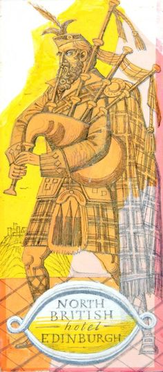 NORTH BRITISH HOTEL EDINBURGH by ERIC FRASER - original artwork for sale | Chris Beetles