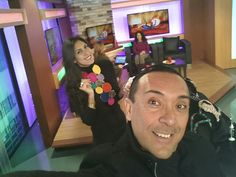 Here @Univision on Vive La Mañana doing our fashion segment and yes I'm Claudia LampeClaudia what a great honor we are showing jewelry from Claudia Lobao,  Charles Albert & Beth McElhaney #lifeasleo #vivelamañana #vlm @Leonardo D'Almagro #jewelry #joyeria