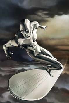 Norrin Radd is the Silver Surfer, an alien from the planet Zenn-La with the power to manipulate cosmic energy granted to him by his former master Galactus. He travels the stars on his trusty surfboard with superhuman speed. Arte Dc Comics, Marvel Comics Art, Bd Comics, Marvel Vs, Marvel Heroes, Captain Marvel, Comic Book Characters, Comic Book Heroes, Marvel Characters