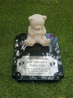 Grave Plaques, Grave Headstones, Memorial Markers, Grave Markers, Angel Babies, Memorial Stones, Baby Footprints, Beautiful Baby Girl, Infant Loss