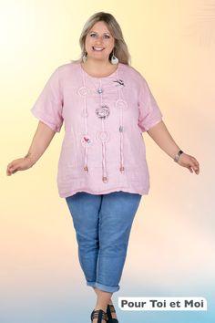 tunique femme 100 % lin grande taille #boutique #mode #femme Boutique, Fashion, Open Shoulder Top, Plus Size Clothing, Man Women, Cotton, Fashion Styles, Moda, Fasion