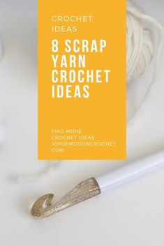 8 creative scrap yarn crochet ideas that gets you excited. Find inspiration & don't let your scrap yarn lay there unused. These projects are fast & amazing! Scrap Yarn Crochet, Wire Crochet, Crochet Stitches, Crochet Hooks, Knit Crochet, Crochet Patterns, Crochet Ideas, Crochet Tutorials, Crochet Basics