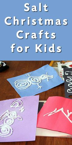 Fun Crafts for Kids: How to Make Salty Snow Prints
