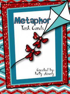 Metaphors from Kelly Avery, W. T. Lewis Elementary, Bossier City, Louisiana on TeachersNotebook.com -  (19 pages)  - Metaphors, Poetry, Creative Writing, Metaphor Task Cards, Fun Stuff