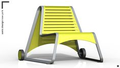 A stylish chair for your backyard? This is the Nomad chair designed by SONIC Design of New York for the Battery Green Design Competition, rendered up in KeyShot.