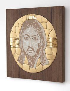 Mandylion  sacral art christian art ceramic mosaic